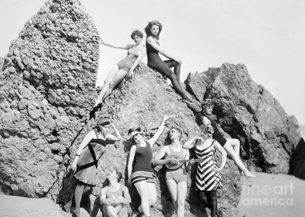 0b91f85c45f Bathing Suit Wall Art - Photograph - Silent Film Still Bathers. For  Licensing Requests Visit