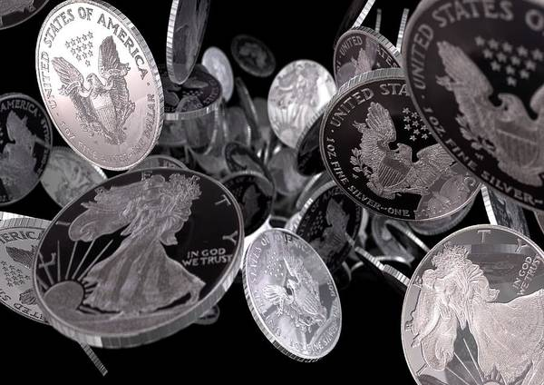 In God We Trust Photograph - Silver Coins, Computer Artwork by Animate4.comscience Photo Libary