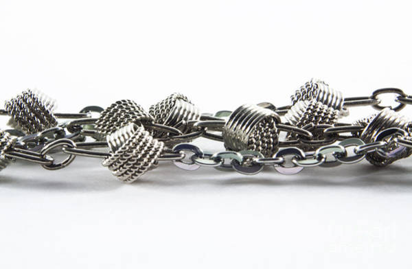 Chain Link Photograph - Silver Jewel Chain by Blink Images