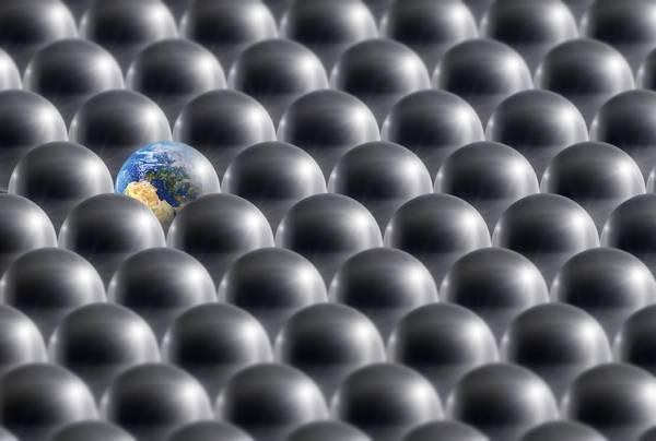Paradox Photograph - Single Earth, Conceptual Artwork by Detlev Van Ravenswaay