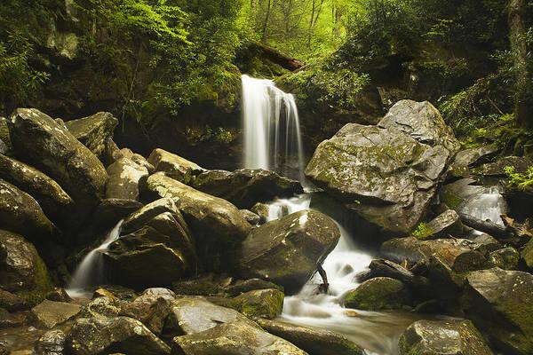 Grottos Photograph - Smoky Mountain Waterfall by Andrew Soundarajan