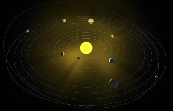 Light And Shadow Digital Art - Solar System, Artwork by Andrzej Wojcicki