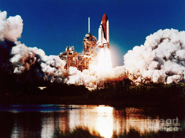 Photograph - Space Shuttle Launch by Nasa