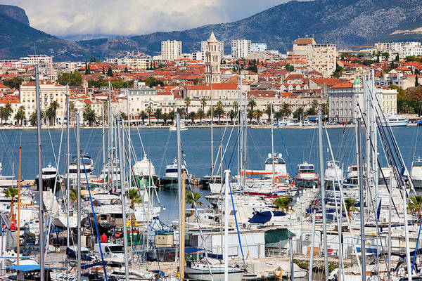 Powerboat Photograph - Split Cityscape by Artur Bogacki