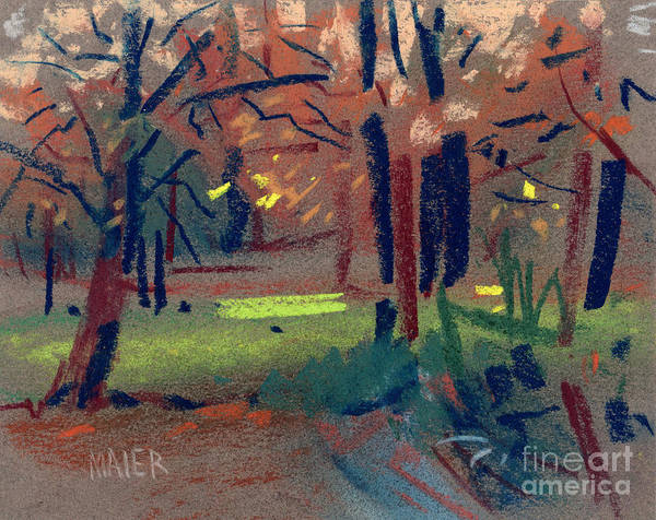Thumbnail Painting - Spring Meadow by Donald Maier