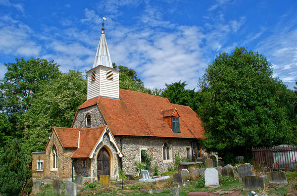 Nikon D5000 Photograph - St Laurence Church Cowley Middlesex by Chris Day