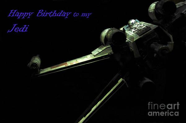 X Wing Photograph - Star Wars Card by Micah May
