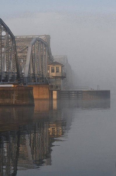 Photograph - Steel Bridge In Morning Fog by Tim Nyberg