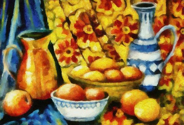 Painting - Still Life With Oranges by Michelle Calkins