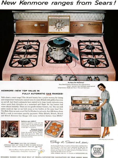 Photograph - Stove Advertisement, 1957 by Granger