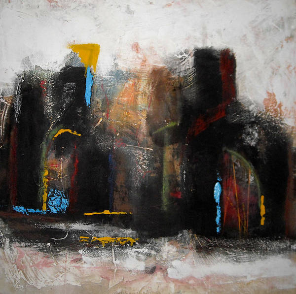 Painting - Street In Marrakech 2 by Mohamed KHASSIF