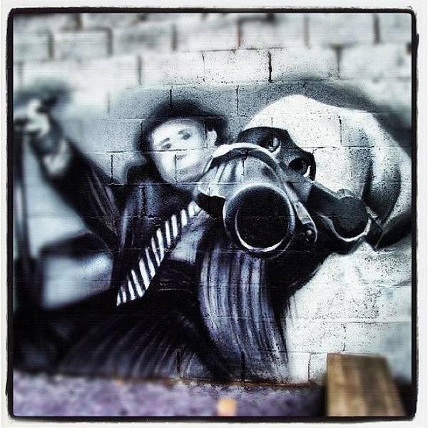 Guns Photograph - #streetarteverywhere #streetphotography by Nigel Brown
