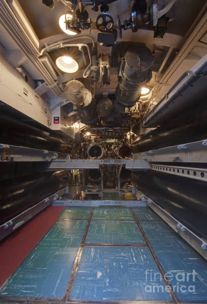Uss Bowfin Photograph - Submarine Torpedo Room by Rob Tilley