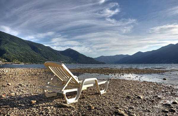 Ticino Photograph - Sun Chair On Lake Maggiore by Joana Kruse