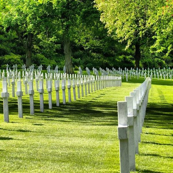 Military Photograph - Suresnes - American Military Cemetery by Tony Tecky