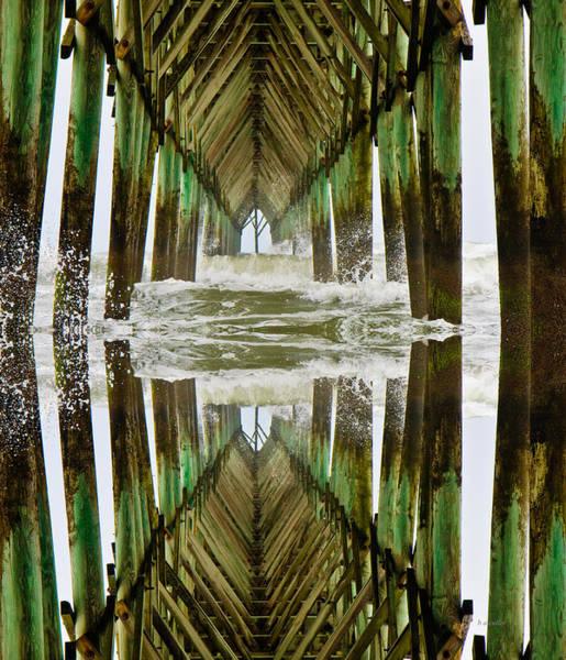 Pier Digital Art - Surf City Pier Reflection by Betsy Knapp