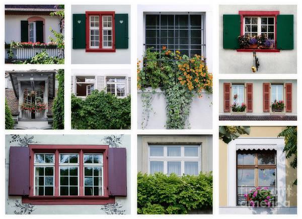 Photograph - Swiss Windows by Ariadna De Raadt