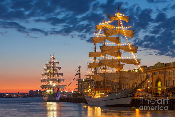 Photograph - Tall Ship Sunrise by Susan Cole Kelly