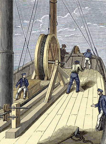 Wall Art - Photograph - Telegraph Cable Laying by Sheila Terry