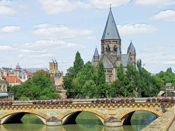 Temple Neuf De Metz Metz France Art Print