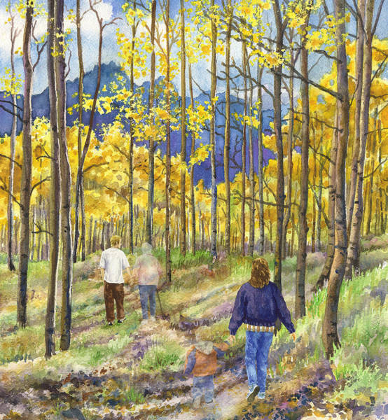 Aspen Tree Wall Art - Painting - The Circle Of Life by Anne Gifford