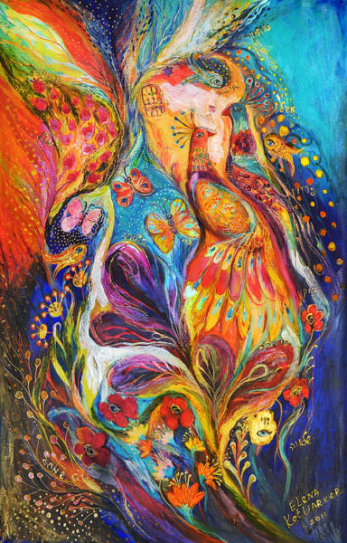 Priestly Blessing Painting - The Dance Of Butterflies by Elena Kotliarker