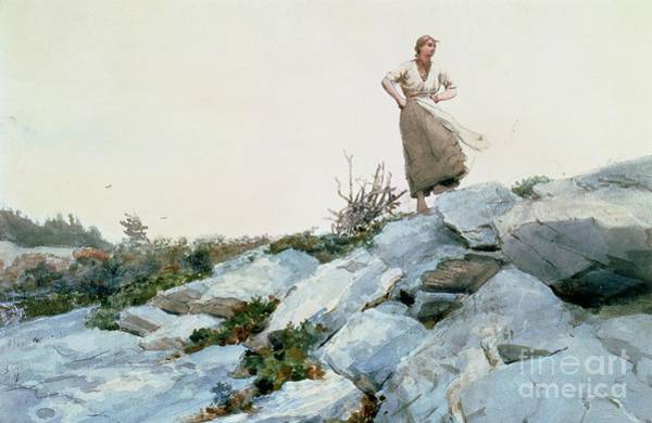 Working Painting - The Faggot Gatherer by Winslow Homer