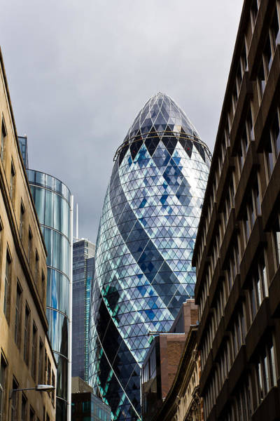 Square Mile Wall Art - Photograph - The Gherkin London by David Pyatt