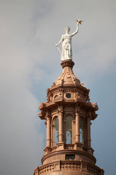 Photograph - The Goddess Of Liberty In Austin Texas by Sarah Broadmeadow-Thomas