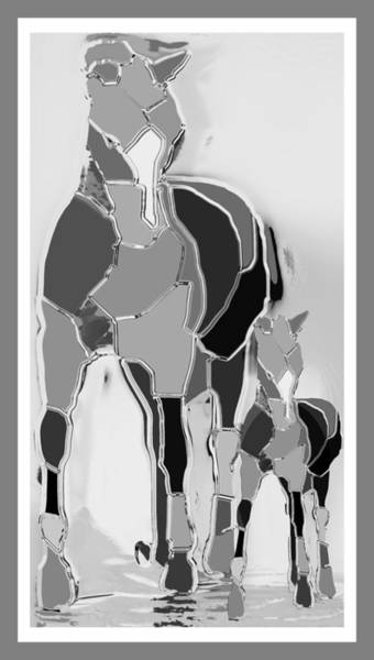 Wall Art - Digital Art - The Luck Horse And Foal by Betsy Knapp