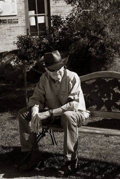 Photograph - The Old Cowboy by Lorraine Devon Wilke