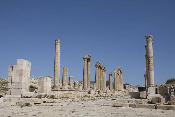 Jerash Photograph - The Oval Plaza In The Ruins by Taylor S. Kennedy