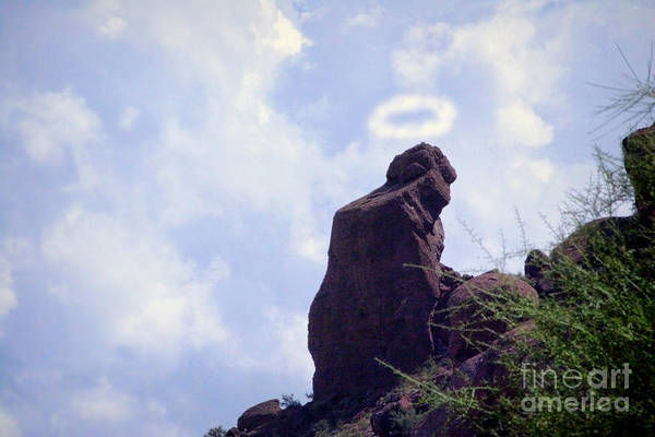 Camelback Mountain Photograph - The Praying Monk With Halo - Camelback Mountain by James BO Insogna