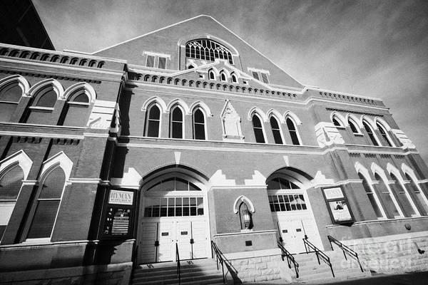 Ryman Auditorium Photograph - The Ryman Auditorium Former Home Of The Grand Ole Opry And Gospel Union Tabernacle Nashville by Joe Fox