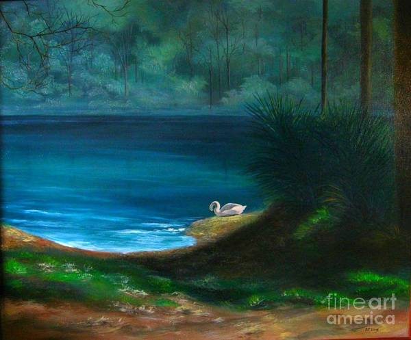 Wall Art - Painting - The Swan by Patricia Lang