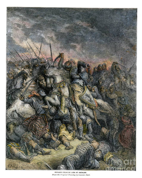 Drawing - Third Crusade by Gustave Dore