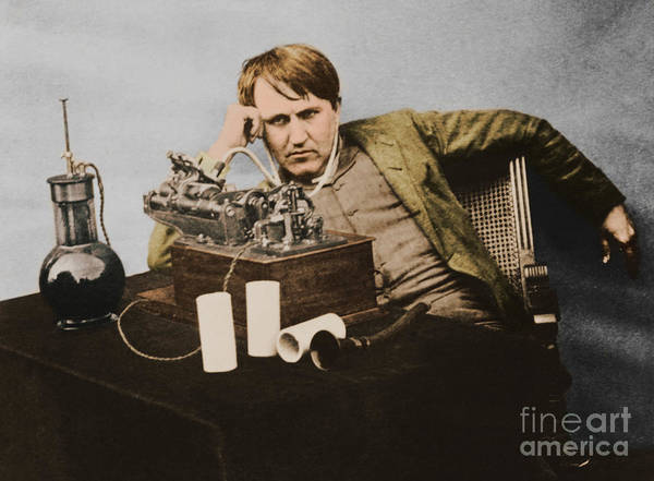 Wall Art - Photograph - Thomas Edison, American Inventor by U.S. Department of the Interior