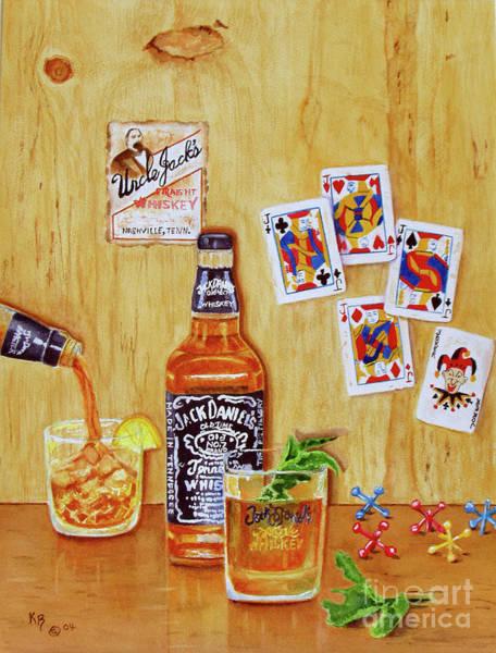 Painting - Too Many Jacks by Karen Fleschler
