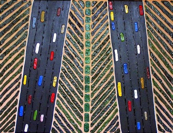 Mixed Media - Traffic by Cynthia Amaral