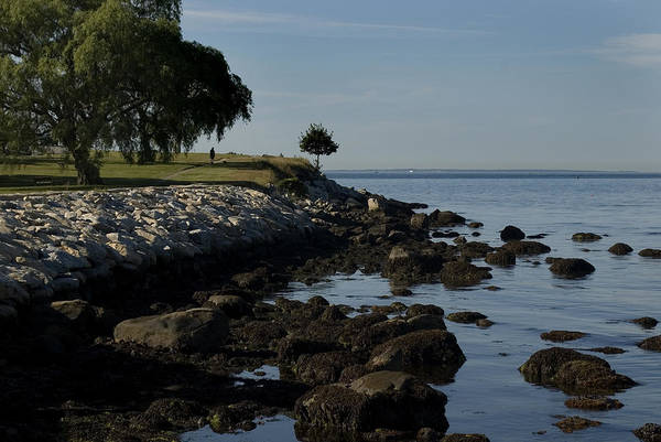 Fisher Island Photograph - Tranquil Shoreline Of Long Island Sound by Todd Gipstein