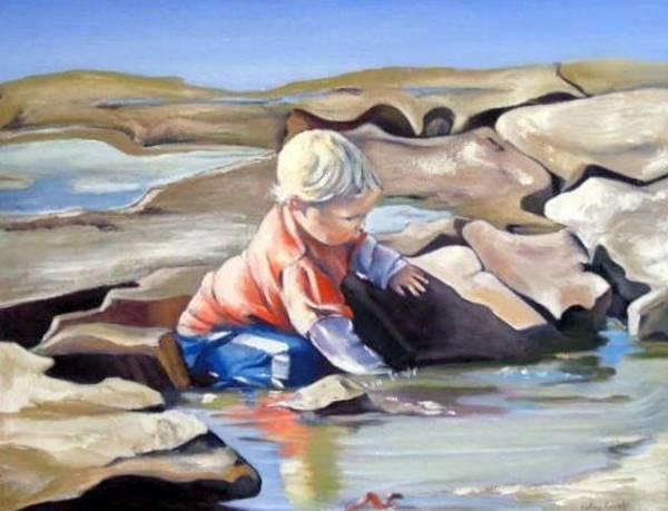 Painting - Treasure by Kathy  Karas