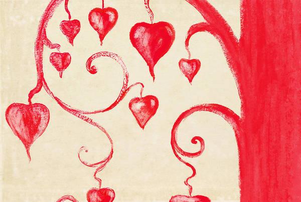 Wall Art - Painting - Tree Of Heart Painting On Paper by Setsiri Silapasuwanchai