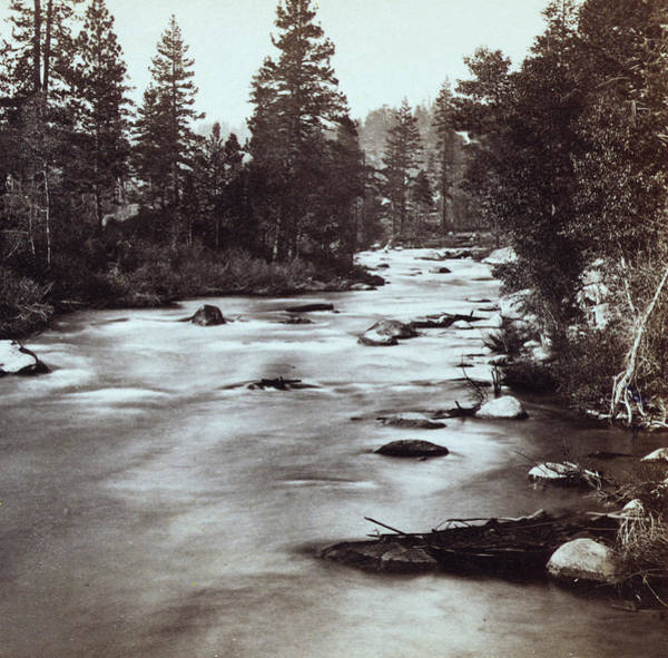 Truckee River Photograph - Truckee River - California - C 1865 by International  Images
