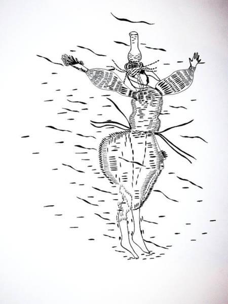 Drawing - Tunisian Dance by Gloria Ssali