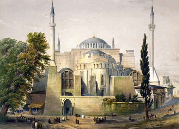 Photograph - Turkey: Hagia Sophia, 1852 by Granger