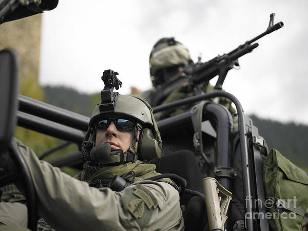 Photograph - U.s. Special Forces On Patrol by Tom Weber