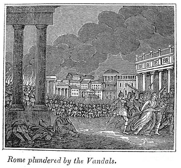 455 Photograph - Vandal Invasion Of Rome by Granger