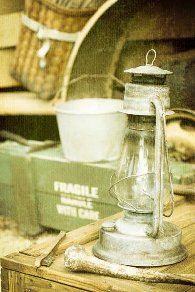 Amish Wall Art - Photograph - Vintage Lamp by Tom Gowanlock