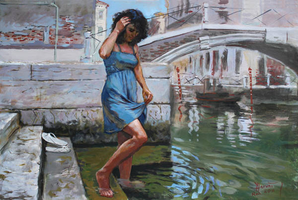 Lady Painting - Viola In Venice by Ylli Haruni