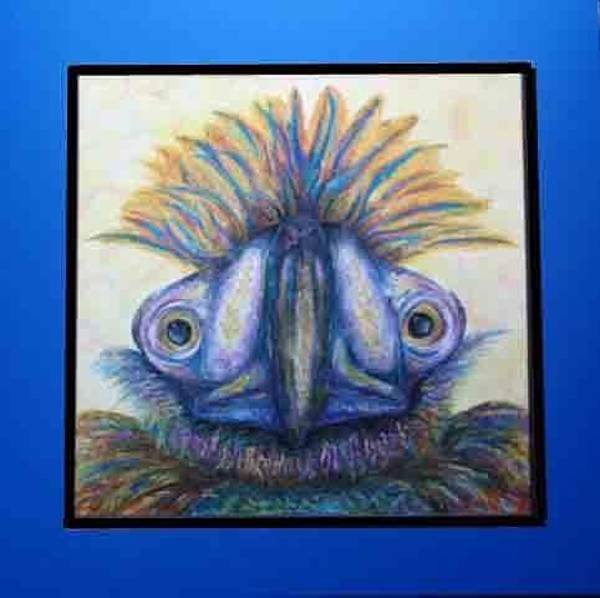 Mixed Media - Wacky Bird by Karen Camden Welsh